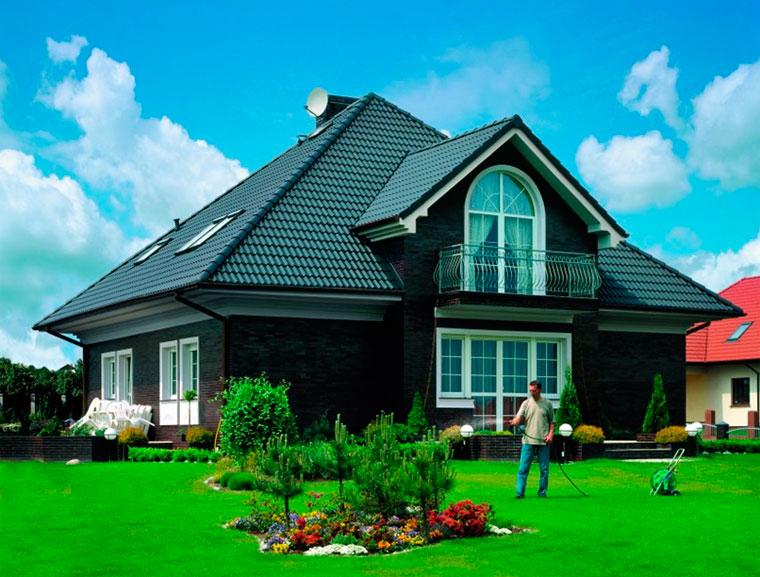 какой сочетание цветов крыши и фасада дома фото отметить